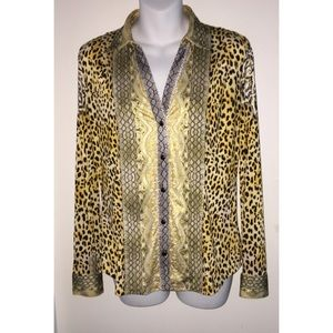 Cache Animal Print Blouse, Small